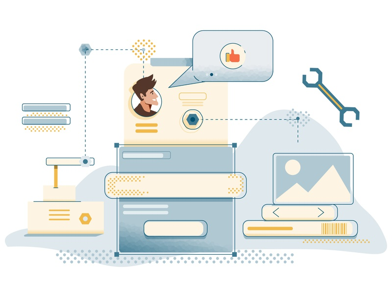 Building Better Products - Vector Illustration