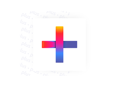 PluS Mark symbol icon plus clean adobe rainbow symbol logo mark identity web minimal icons app branding ux design ui website vector illustration