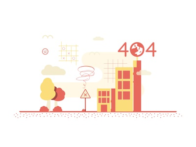 404 Page Vector Illustration error page error 404 simple vector illustration town visual design website nature building cool icons design vector 404 interface ux ui app animation illustration