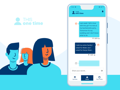This One Time - Product Design new product security ui design ux design product designer react anonymous users web development product design secret minimal icons animation app branding ux vector website ui