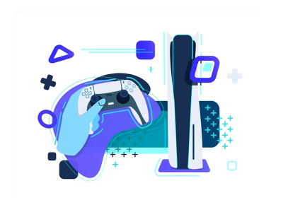 Play Has No Limits - Vector Illustration vector branding console mockup product design product interface ux ui playstation5 gamers sale marketing game design app tech cool futuristic game ps5
