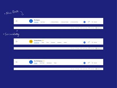 Navigation Redesign UX/UI Web App app design user flow menu product design zoom teams team work work management web app web interface interactive research uxdesign ui ux navigation bar navigation navbar