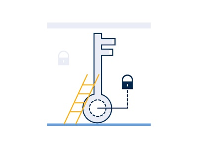 """Turnkey Solutions"", Icon/Illustration flat design website webdesign ux ui solutions key infographic illustrator illustrations icons developer"