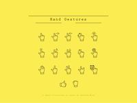 """Hand Gestures"" Vector Icon Set"