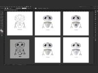 Robot Mascot Process for SaaS Platform