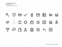 26 SVG/PNG pixel perfect icons