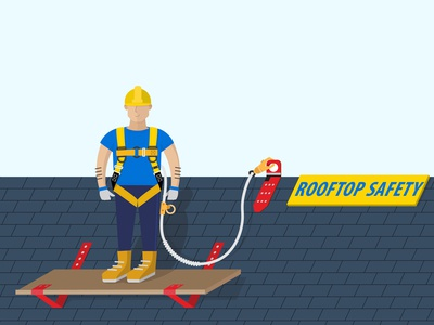 Vector Illustration, Roofing company website
