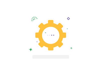 Cog Icon, Vector Illustration Icon