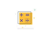 Math Icon, Vector Illustration