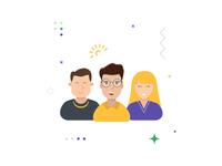 Customer Support, Spot Illustration
