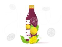 10/365 Vectors - Bottle Lemon Juice Illustration