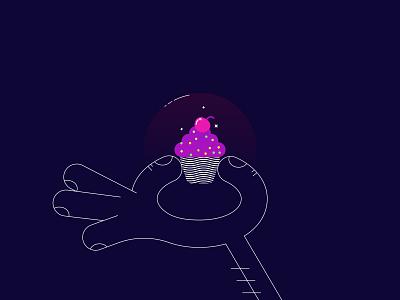 My Precious ui coloful animation app iconography icons illustration simple minimal website web branding food dark night vector outline muffin stroke line