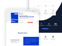 Landing Page, UX/UI design