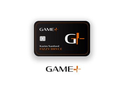 Game+ Brand Logo and Card Design