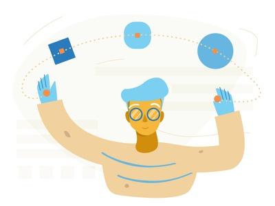 Editing Shapes - Shape Design+Code man editing colors ux ui icons website web minimal simple design abstract character person guy illustration vector animation app figma