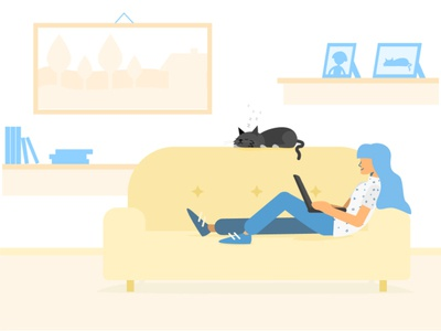 Home and Chill - Illustration