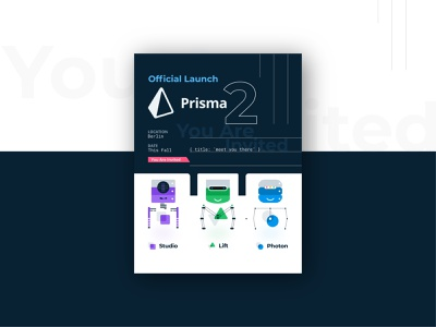 Flyer Design - Official Launch Prisma2 ui illustration identity design coders coding presentation branding website data migration software data graphql vector simple design flyer robots api interface