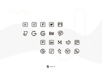 Social Media Icons, Part 1