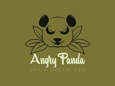 Day 3 - Angry Panda Tea tea panda vector logo illustration graphic design flat art daily logo challenge branding mockup adobe illustrator