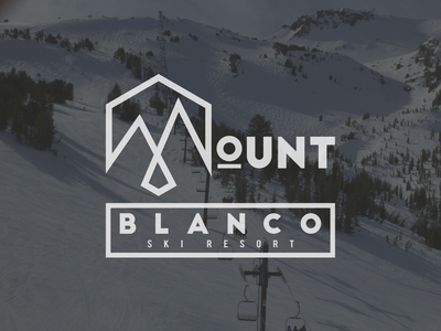 Mount Blanco vector art vector logo illustration graphicdesign flat illustrator flat art daily logo challenge branding badge adobe illustrator