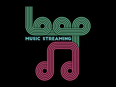 Loop Music Streaming vector illustration graphicdesign art flat challenge logo daily branding badge illustrator adobe
