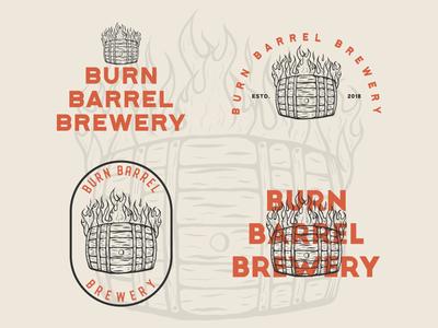 Burn Barrel Brewery vector art vector logo illustration graphicdesign flat illustrator flat art daily logo challenge branding badge adobe illustrator