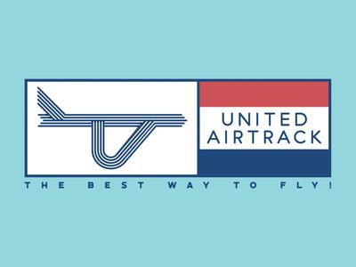 United Airtrack vector art vector logo illustration graphicdesign flat illustrator flat art daily logo challenge branding badge adobe illustrator