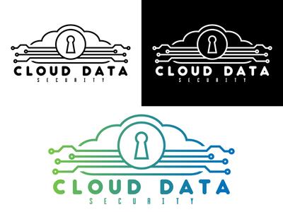 Cloud Data Security daily logo vector art vector logo illustration graphicdesign flat illustrator flat art daily logo challenge branding badge adobe illustrator