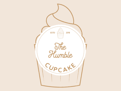 The Humble Cupcake vector art vector logo illustration graphicdesign flat illustrator flat art daily logo challenge branding badge adobe illustrator