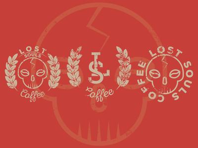 Lost Souls Coffee coffee skull vector art vector logo illustration graphicdesign flat illustrator flat art daily logo challenge branding badge adobe illustrator