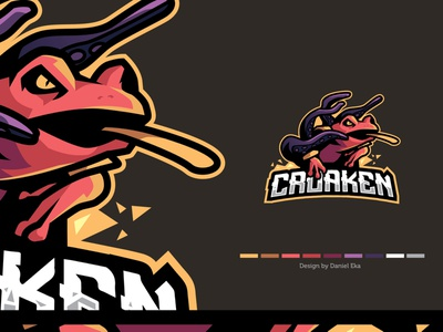 Croaken | Esport Logo logo illustration illustraion esport logo esport mascot character mascot logo logoplace logotype logo design logo