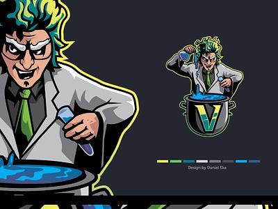 Crazy Scientist | Esport Logo mascot character mascot design mascot logo mascot logoplace logotype logo design logo esport logo esport