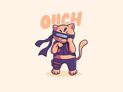 Nervous Cat mascot design pet animal character design character mascot character mascot logo mascot illustration cat