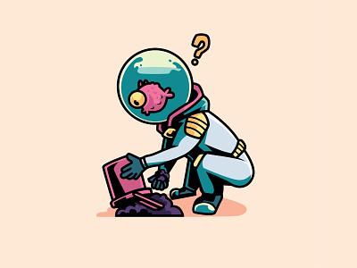 Astro Fish vector illustration mascot design mascot character mascot character design character aquarium fish