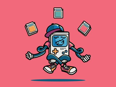 Retro Boy retro gameboy vector design logotype illustration character design character mascot logo mascot mascot design mascot character