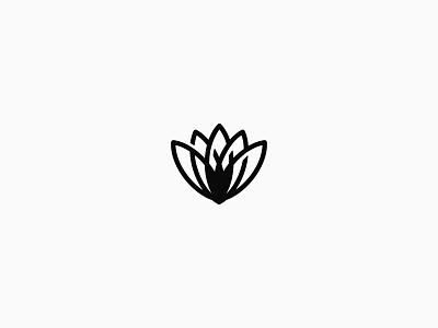 flower logo flower minimal flat identity vector logo branding