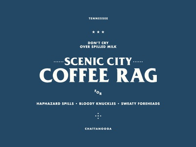 Plus Coffee Shop Rag lettering minimal sharp typography rag towel competition coffee layout