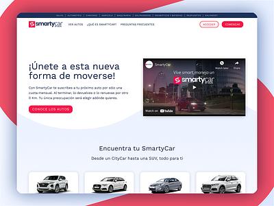 SmartCar by Salfa landing page website page landing divi wordpress ux design ui
