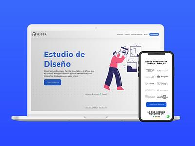 BUBBA Estudio de Diseño website website branding landing ux design ui