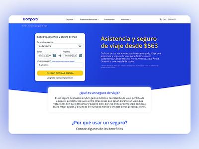 ComparaOnline landing page mockup web website landing ux design ui