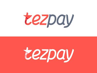 Lettering for Tezpay online payment portal red typography logotype logo branding azerbaijan