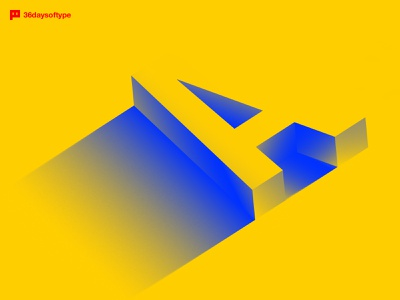 A letter for 36daysoftype contrast letter a a letter blue yellow typeface typography type 36days-a 36daysoftype