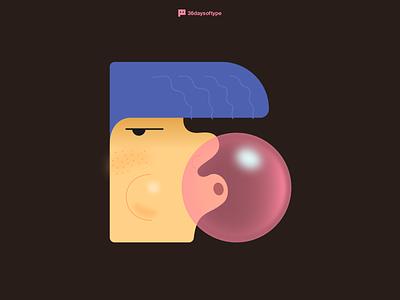 Letter B illustration design b 36days-b 36daysoftype