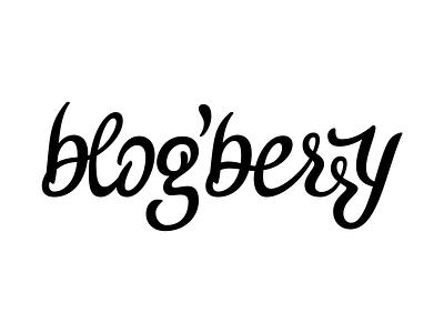 Blogberry typeface logotype logotype sweet calligraphy handwritten script font typeface typography branding logo berry blog