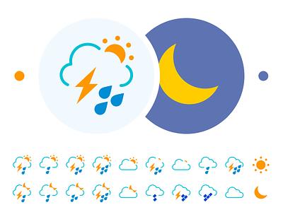 Weather icon set icons shower sun flat icon set icon wether weather