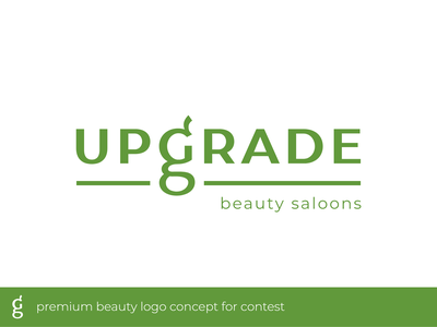 UPGRADE premium beauty logo beauty logo beauty salon typography typeface brand luxury salon green modern premium beauty