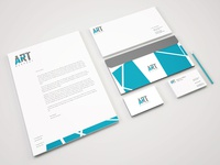 Stationery design for ART Bespoke