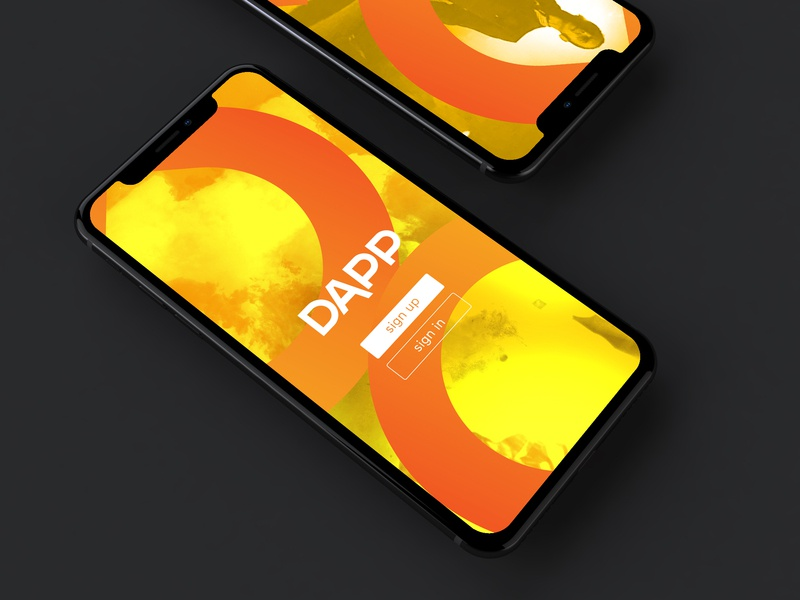 Dapp Iphone X Mockup branding concept app ui ux brand typography orange 86 b smxr art illustration ecommerce clothing company clothing vector logo fashion clothing brand design branding