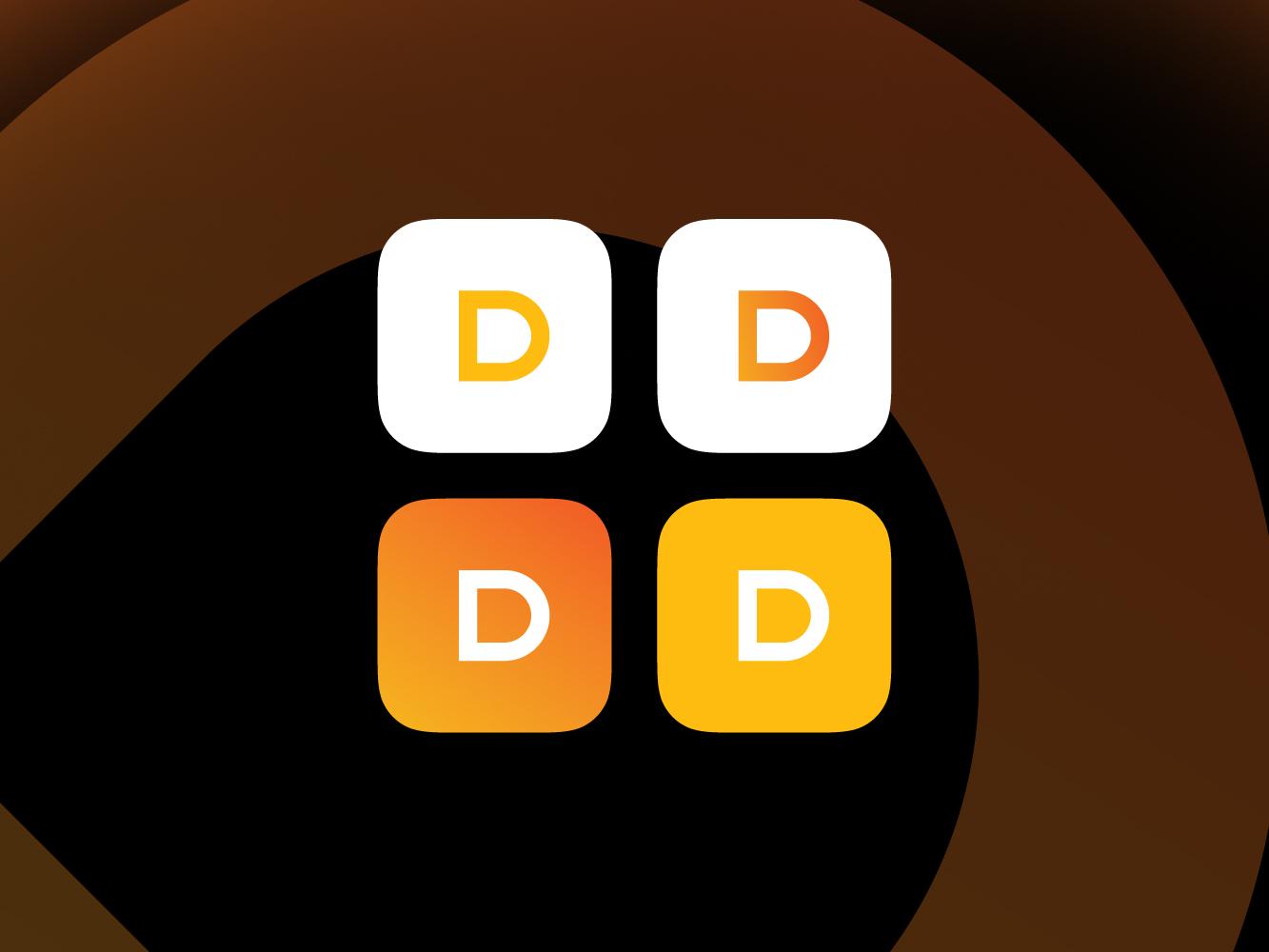 App Icon concept For DAPP brand yellow branding concept typography orange 86 b smxr illustration ecommerce clothing company clothing vector logo fashion clothing brand design branding app icon design icon app