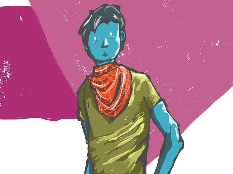 Alien Cowboy art illustration gay rights gay pride digital illustration lgbt gay